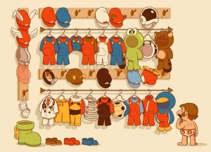 Mario's Closet, by Glen Brogan (via Gameovr)