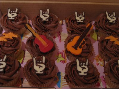 metal birthday cupcakes